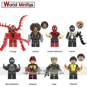 Deadpool Dead pool Taco Single Sale Building Blocks  2 Domino Cable Peter Carnage Warhead Black Spderman Zombie Action Figures Children Gifts AT_70_6
