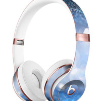 Royal Blue and Silver Glowing Orbs of Light Full-Body Skin Kit for the Beats by Dre Solo 3 Wireless Headphones