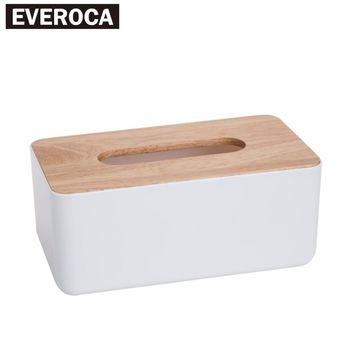 Desktop Plastic Wood lid Cover Storage Tissue Box Drawer Paper Box Multifunction Tissue Box Creative