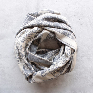 bali elephant print reversible knit scarf - more colors