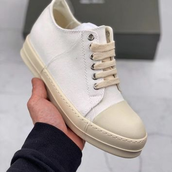 Kuyou Fa1973 Rick Owens Drkshdw Scarpe White Sneaker For Women And Men