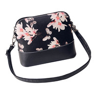 2015 New European Fashion Style Women Printing Shoulder Bag Leather Purse Satchel Messenger Bag bolsas feminina Free Shipping