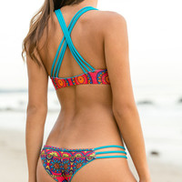 The Girl and The Water - Mary Grace Swim - Camilla Reversible Bikini Bottom / Casey Jones - $97