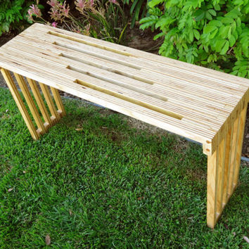 Plywood bench / end table