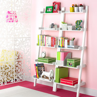 The Container Store > White Linea Leaning Bookcase