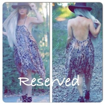 Leopard print halter sundress, gypsy spell dress, boho OS, gypsy spell summer leopard dress, True rebel clothing