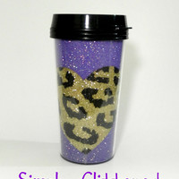 Cheetah Heart Travel Mug