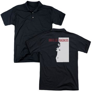 Bruce Lee - Badass (Back Print) Mens Regular Fit Polo