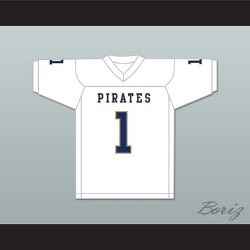 Calvin Jackson 1 Independence Community College Pirates White Football Jersey