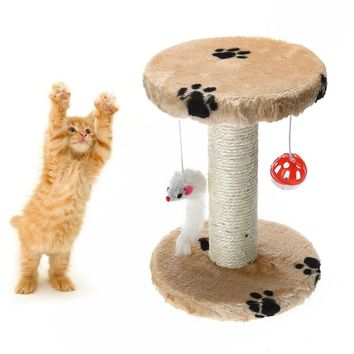 Cat Jumping Toy with Ladder Scratching Wood Climbing Tree for Cat Climbing Frame Cat Furniture Scratching Post Pet Scratch Board
