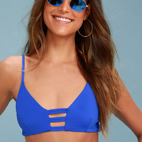 St. James Royal Blue Strappy Bikini Top