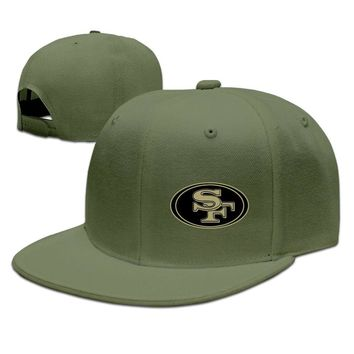 San Francisco 49ers Salute To Service Logo Printing Unisex Adult Womens Hip-hop Hat Mens Baseball Cap