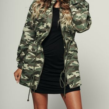 Can't See Me Utility Jacket (Olive)