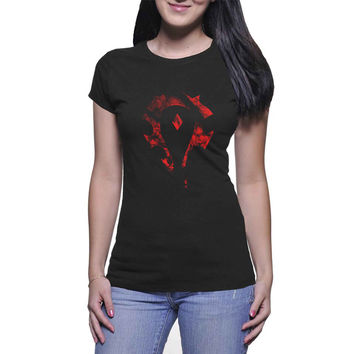For The  Horde Logo Womans and Mens T-shirt Black