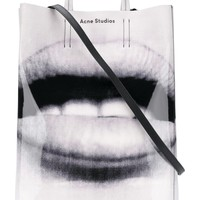 Black and White Lips Tote Bag by Acne Studios