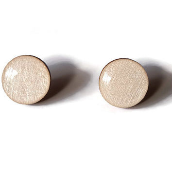 Palm Tree Studs - FREE shipping to USA minimalist studs resin stud earrings white studs painted wood earrings resin wood One of a Kind
