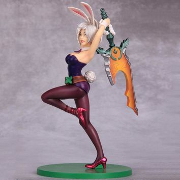 LOL League of Legends figure Action Game Riven The blade of exile Character Model Toy action  3D Game Heros anime party Gift