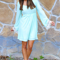 End Of The Line Dress: Spearmint   Hope's