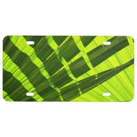 Eclectic Emerald Green Foliage License Plate