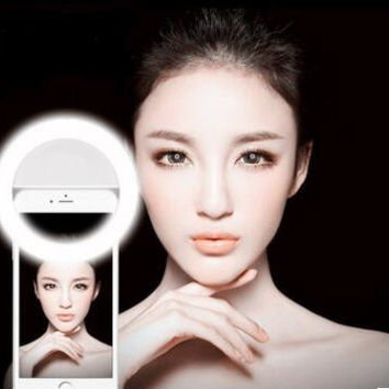 Selfie LED Light for Cellphone Photography Camera Video-Black [11630843471]