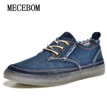 Fashion brand men canvas shoes original quality denim canvas breathable lace up casual shoes sapato masculino size 39-44 6106m