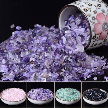 50g AAA+++Natural Purple Quartz Crystal Stone Rock Chips Lucky Healing Enjoy The Sight of Crystal Fish Tank Crystal Stone