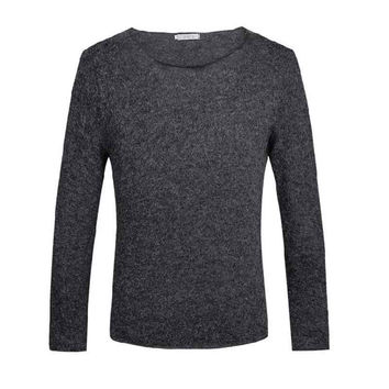 2016 autumn crime sweater solid casual cotton knitting fashion for the man who's round neck long sleeve pullover sweater of man