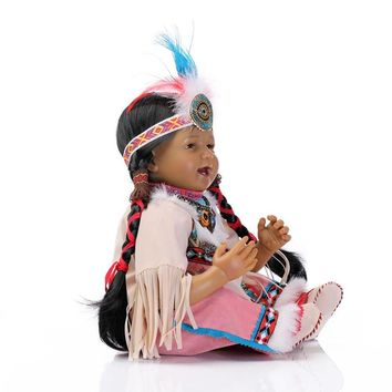 NPKCOLLECTION 20' Native American Reborn Baby Doll with Clothes