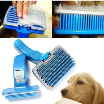 Professional Pet Dog Cat Hair Fur Grooming Brush Rake Comb Easy Shedding 2 Sizes = 1929940100