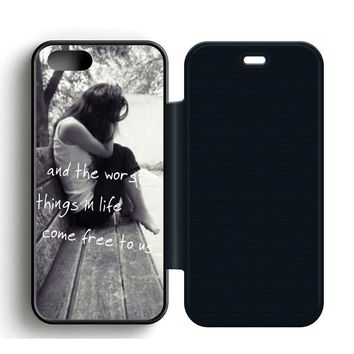 Ed Sheeran The A Team Leather Wallet Flip Case iPhone 5 | 5S