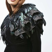 Feather Fringe Cape - New In