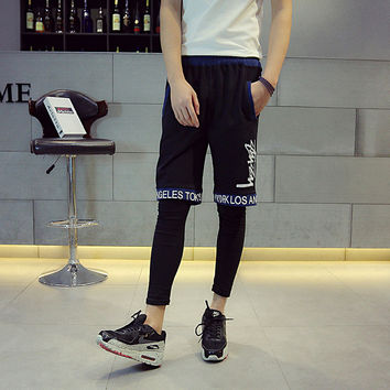 Summer Hip-hop Casual Korean Alphabet Pants Couple Shorts [6541170179]