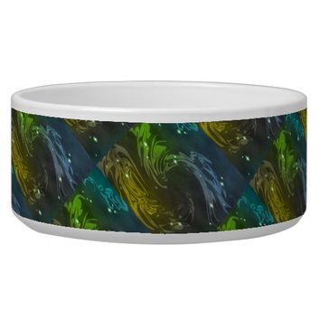 Abstract Swirls Bowl