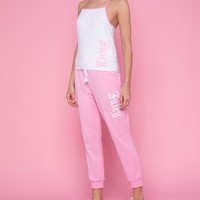 Embroidered Juicy Microterry Slim Pant