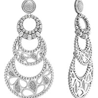Women's LAGOS 'Voyage' Caviar Drop Earrings - Silver