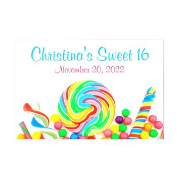 Candyland Candy Theme Sweet 16 Guest Book
