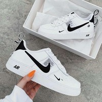 NIKE AIR FORCE 1 AF1 OW Running Sport Shoes Sneakers-5