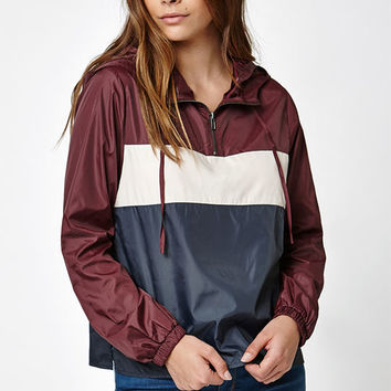 LA Hearts Colorblock Half Zip Windbreaker Jacket at PacSun.com