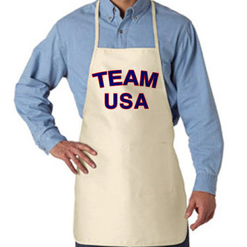 Team USA Apron for 4th of July Cook Out | Team Merica Patriotic Apron Cook Out Fourth of July Shirts Tank Tops Gag Gifts and more