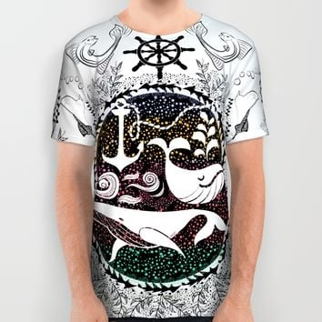 Ocean Galaxy All Over Print Shirt by Famenxt | Society6
