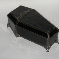 Coffin Stained Glass Jewelry Box