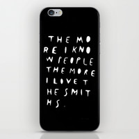 THE MORE I KNOW PEOPLE iPhone & iPod Skin by WASTED RITA | Society6