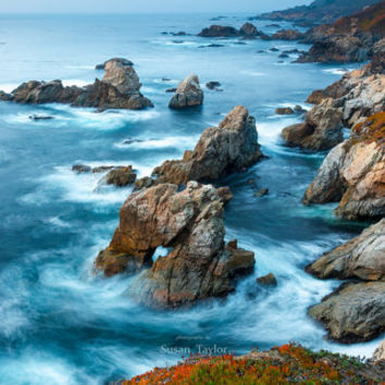 Large Wall Art, Oversized California Beach Canvas,  Big Sur Seascape Photo, Carmel Coast Photography, Blue Ocean Print, Susan Taylor