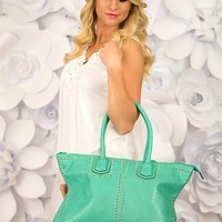 Waiting for the Weekend Bag in Mint