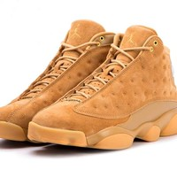 Jordan Air 13 Retro Wheat casual shoes mens elemental gold/baroque brown New 414571-705
