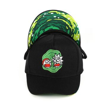 Trendy Winter Jacket Rick and Morty New Black Dad Hat Crazy Rick Baseball Cap American Anime Cotton Embroidery Snapback Anime lovers Cap Men Women AT_92_12