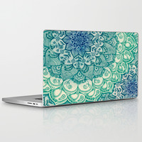 Emerald Doodle Laptop & iPad Skin by Micklyn