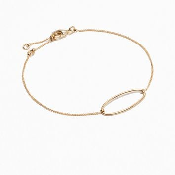 & Other Stories | Adjustable Oval Bracelet | Gold