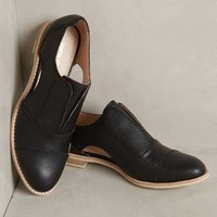 All Black Cutout Cowman Oxfords