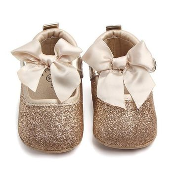 Bowknot Glitter Baby Shoes